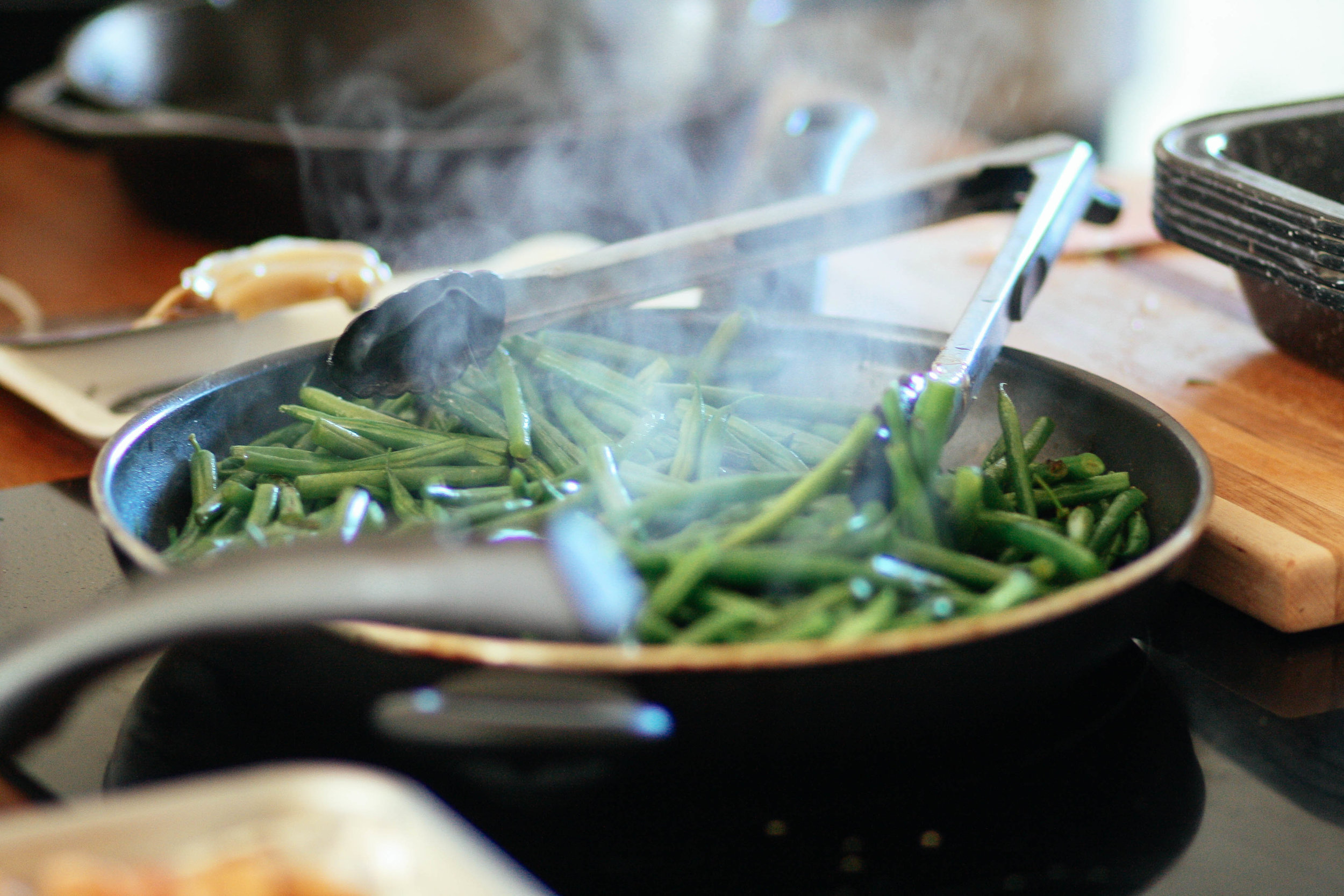 One of customer's favorites is our green beans!