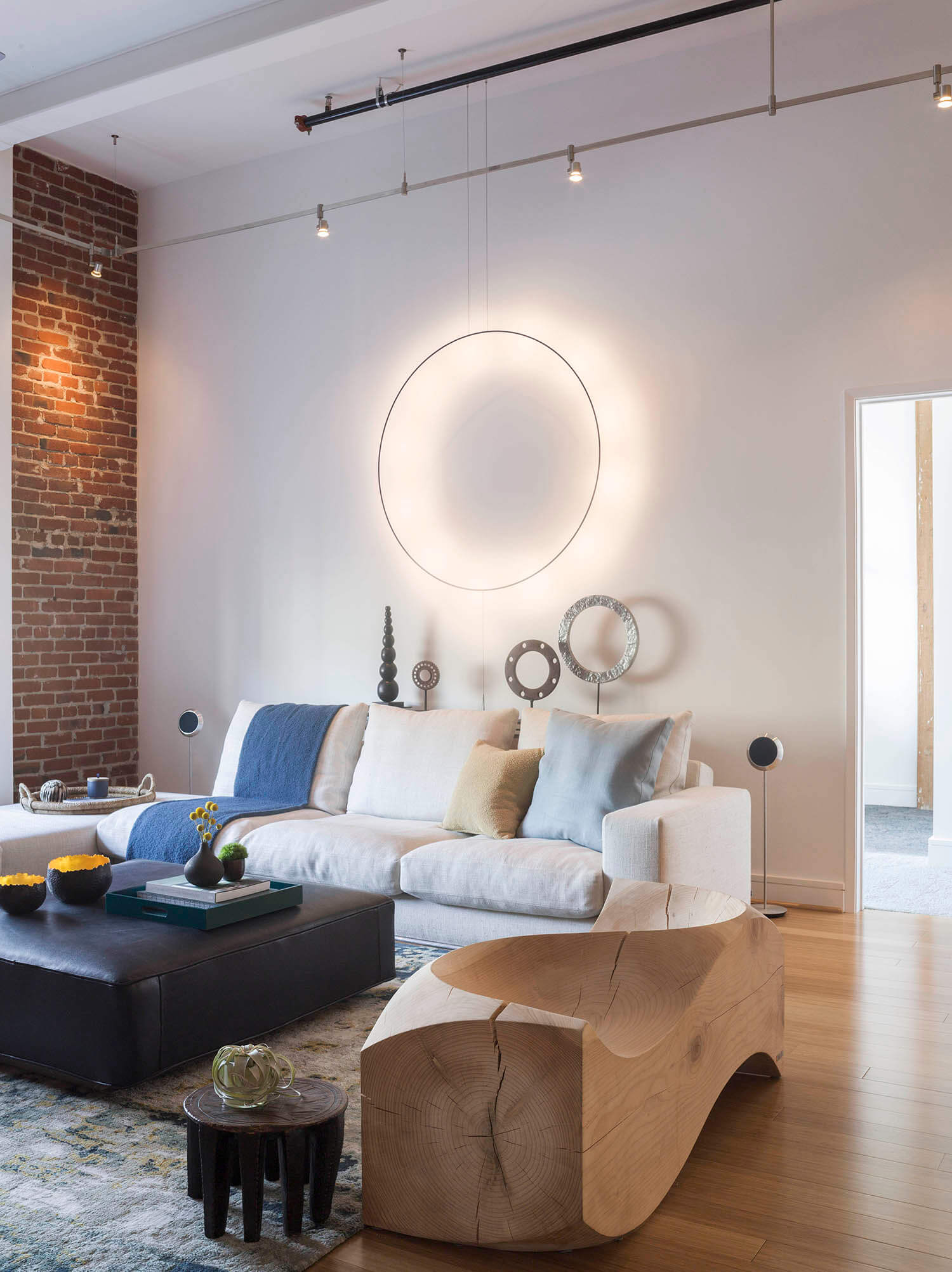 Living Room Modern Loft Jennifer Gustafson SF Bay Designer