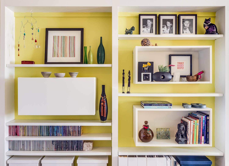 Storage Wall Yellow Modern Jennifer Gustafson SF Bay Designer