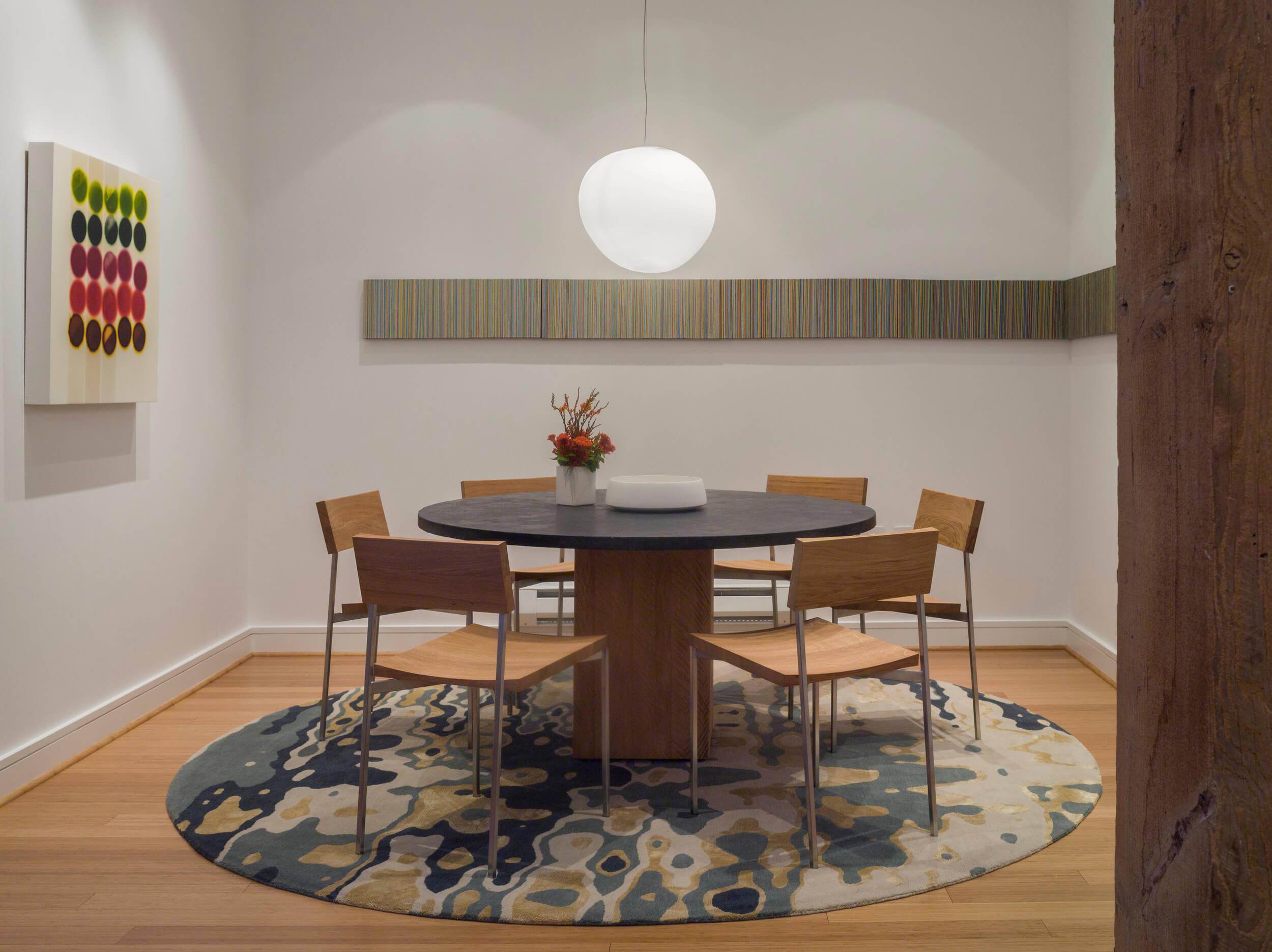 Dining Room White Modern Loft Jennifer Gustafson SF Bay Designer