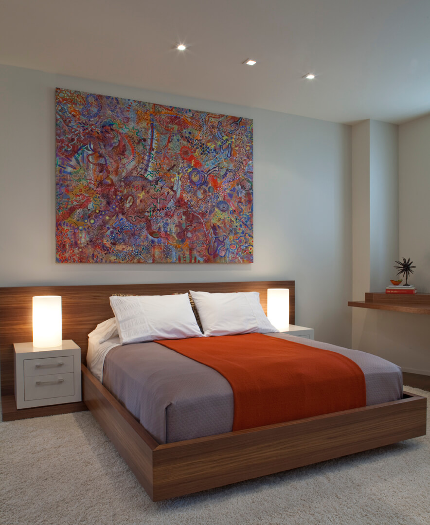 Bedroom Neutral Orange Modern Jennifer Gustafson SF Bay Designer