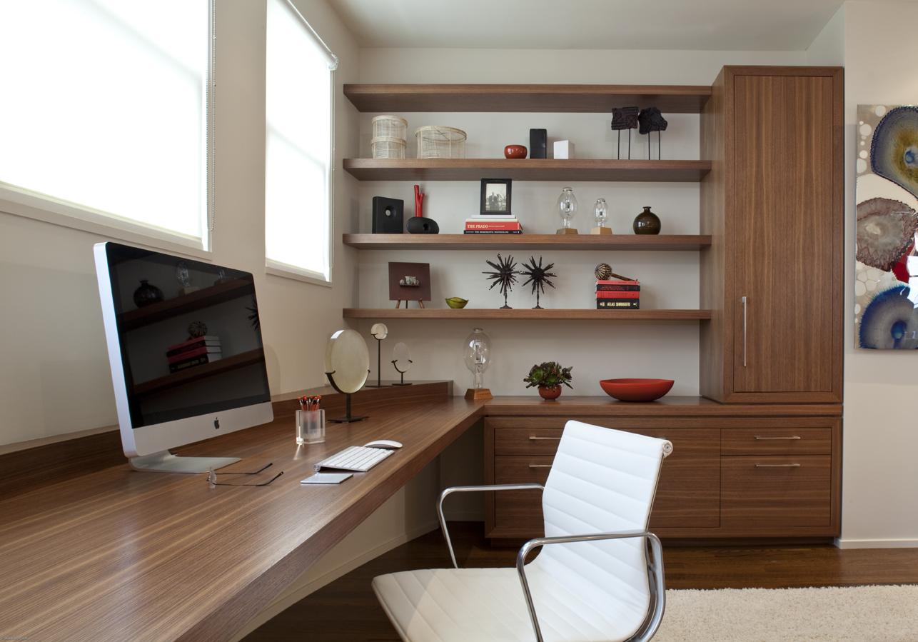 Home Office Neutral Modern Jennifer Gustafson SF Bay Designer