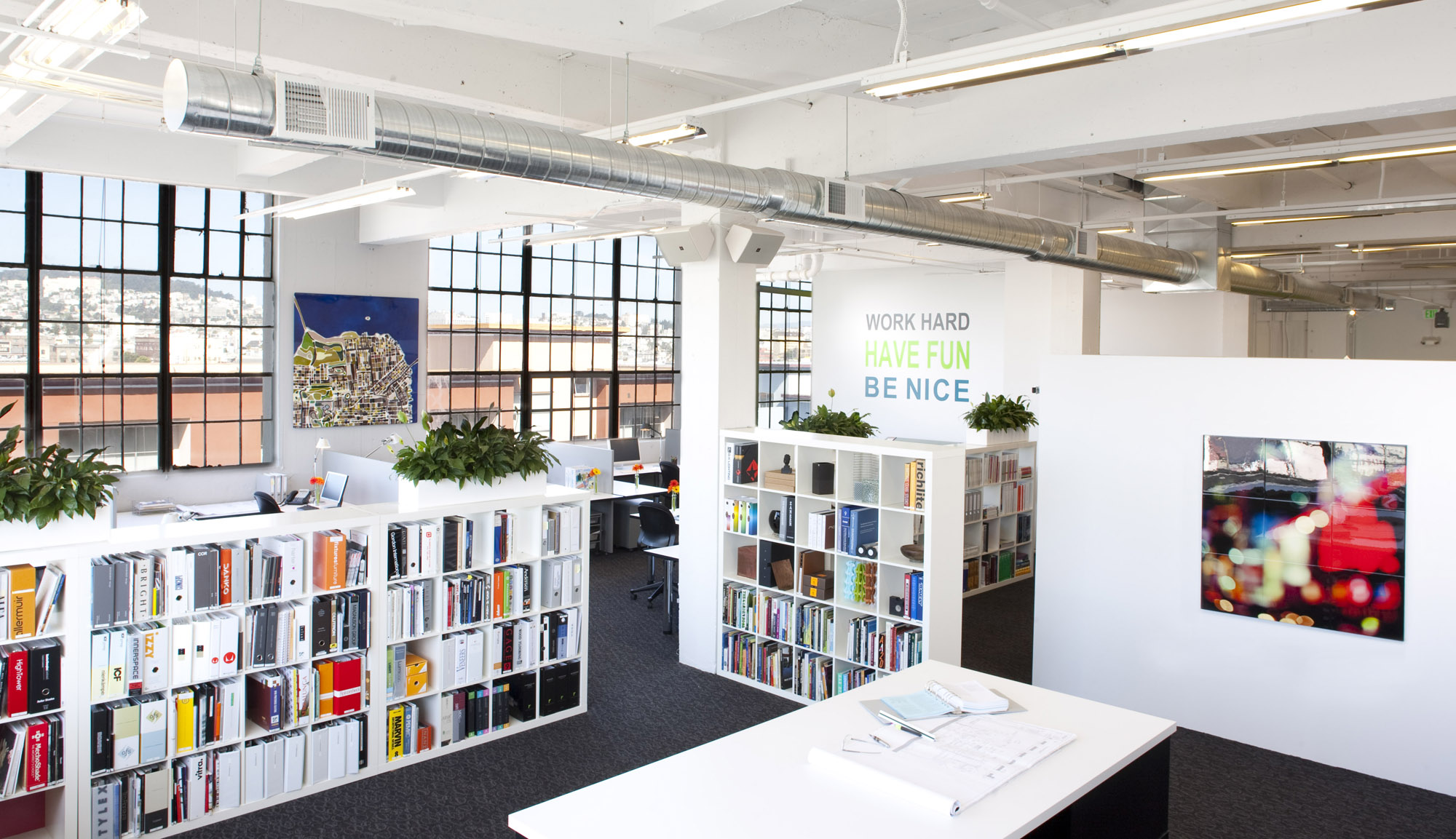 Office White Industrial Modern Jennifer Gustafson SF Bay Designer