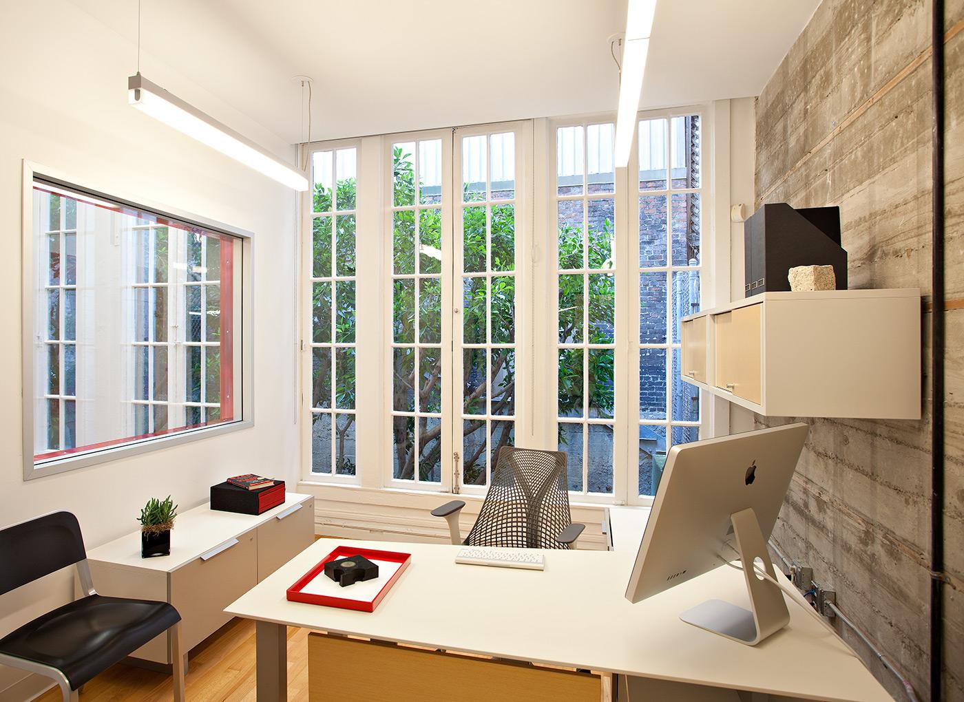 Office White Gray Modern Jennifer Gustafson SF Bay Designer