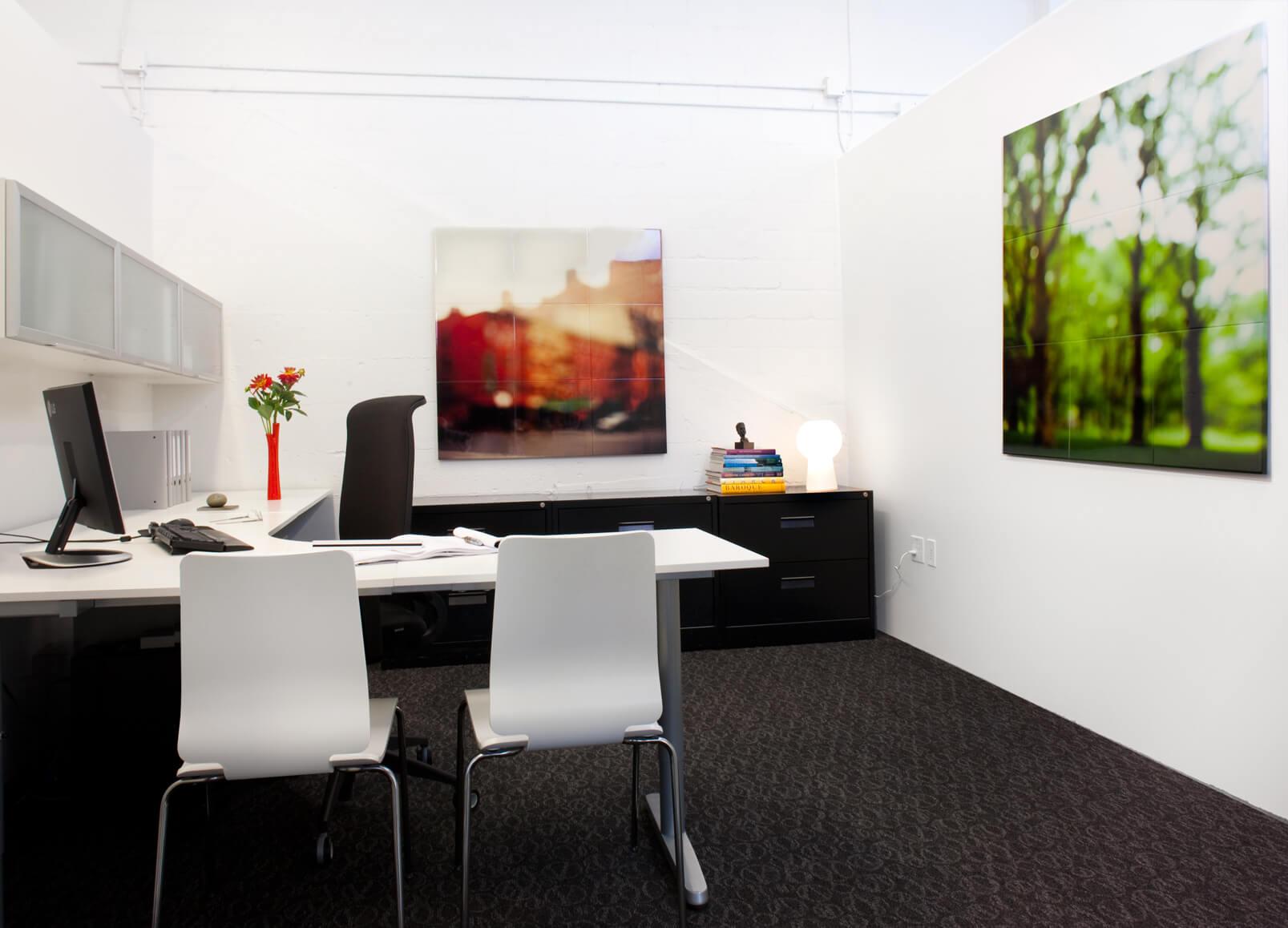 Office White Modern Jennifer Gustafson SF Bay Designer