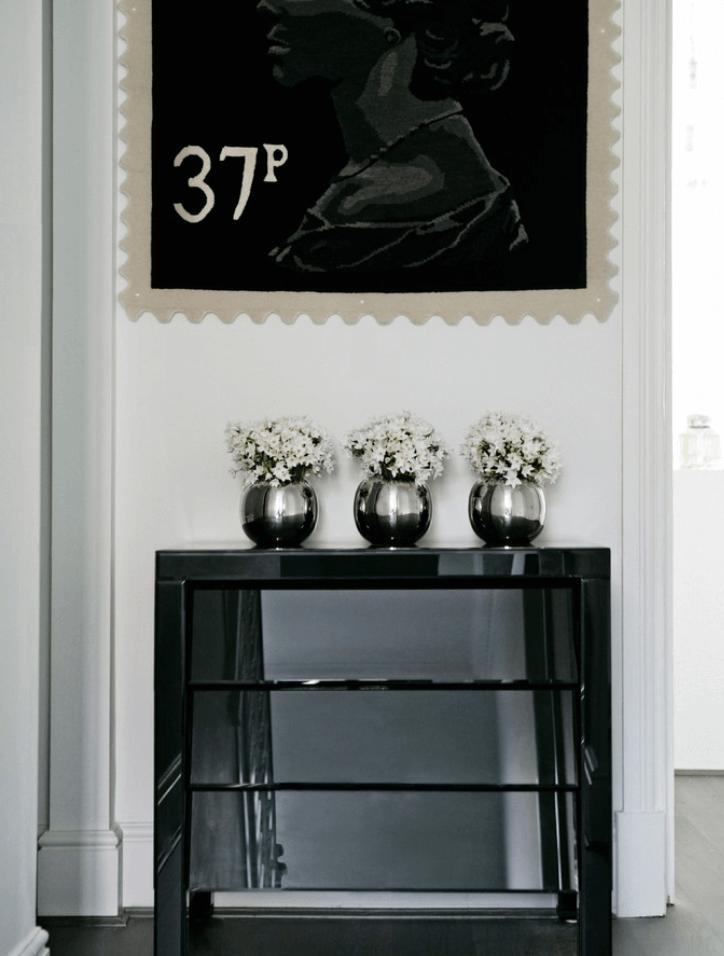 Foyer Black White Stamp Art