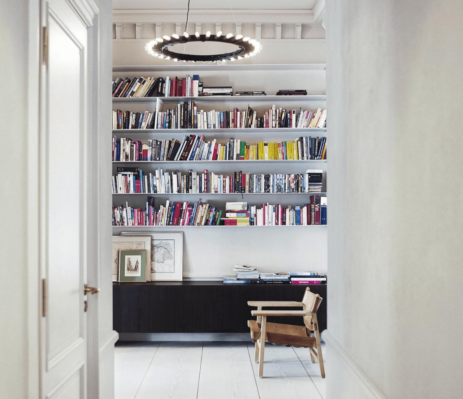Living Room Black White Shelf Eclectic Vogue Living 03.04.14