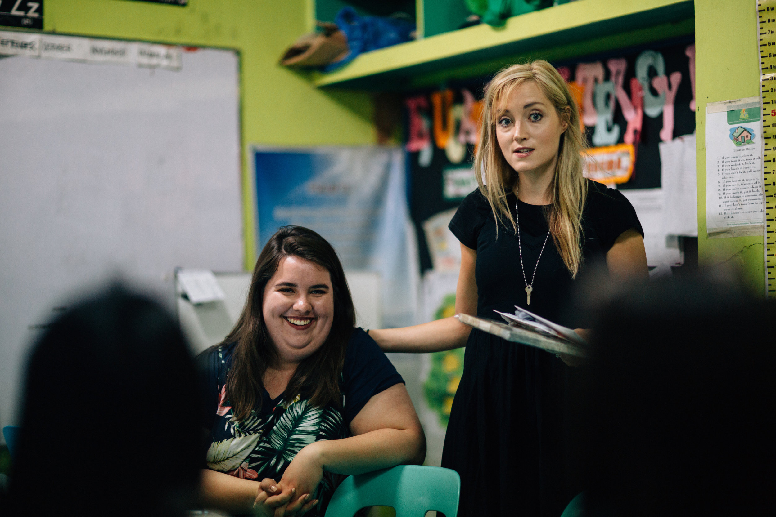Danielle and Jocelyn Teaching