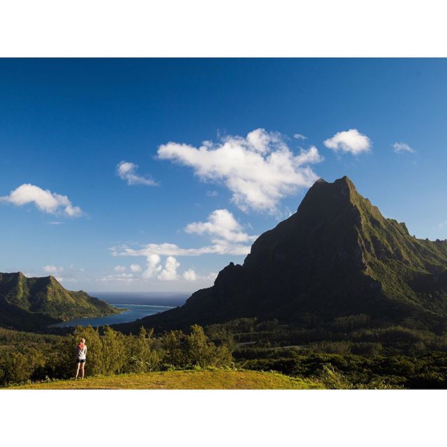 Sometimes you don't get it right the first time. When I first visited Belvedere lookout with my assistant pictured we came in the afternoon and the light was by the mountains so was completely backlit. I made the call that even though we were staying Tahiti this shot would be great in the morning (apps like Sun Seeker can help with this) and we took the first ferry back the next day to get the shot which ended up being the double page spread opener to the story I was shooting for Travel + Leisure.  Having my assistant stand in for scale also adds to the majesty of the mountains.