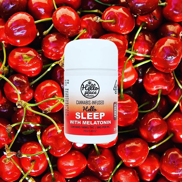 Did you know.. Cherry also causes 😴 so when you try our Indica with melatonin you're getting a sleeping vitamin in every way :) #themoreyouknow #haveyouhadyourvitaminstoday #cannabiscommunity #thehelloplace #melatonin #edibles #gotosleep #hellosleep #indicagummy #cherry