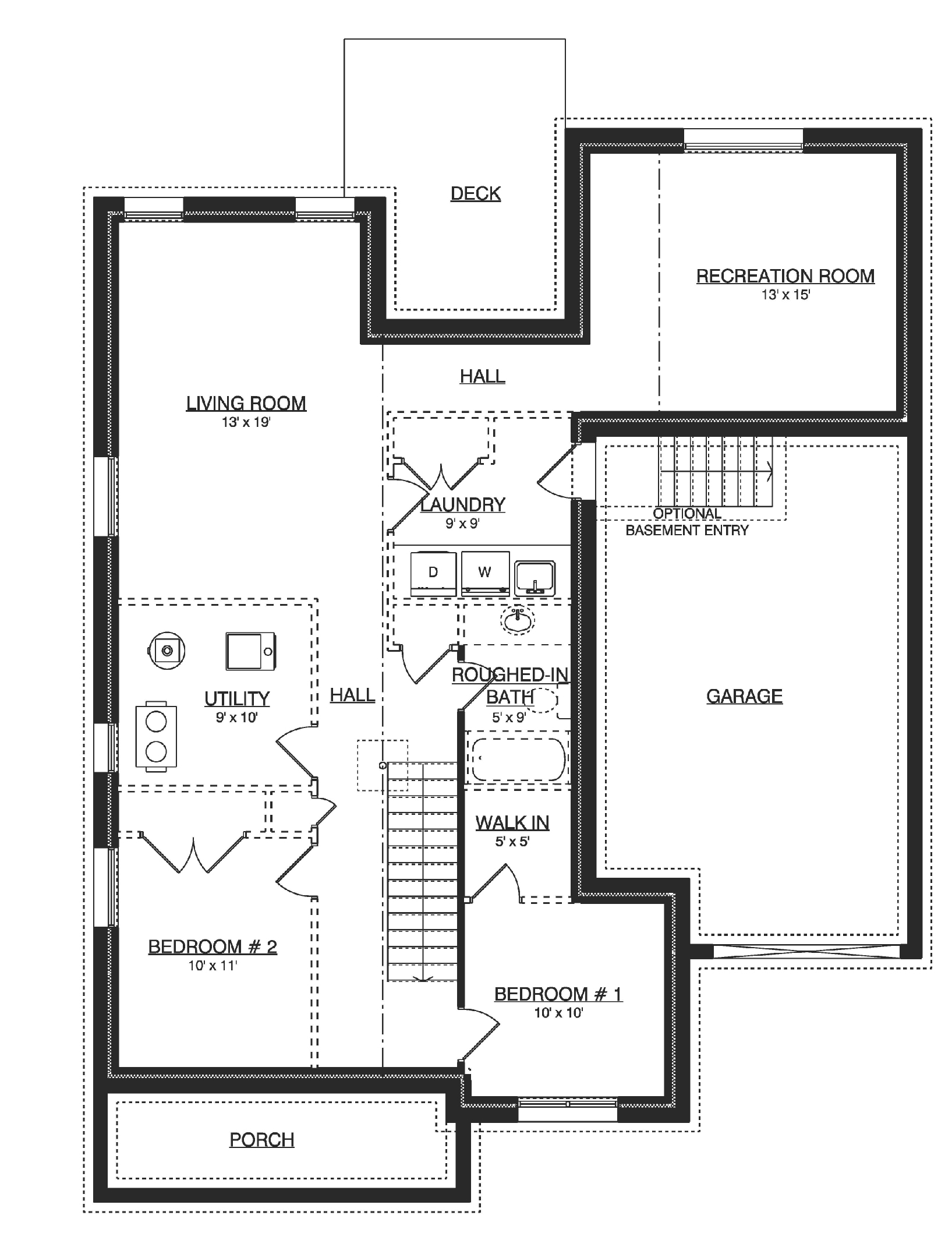 Floor Plan - Unfinished Basement