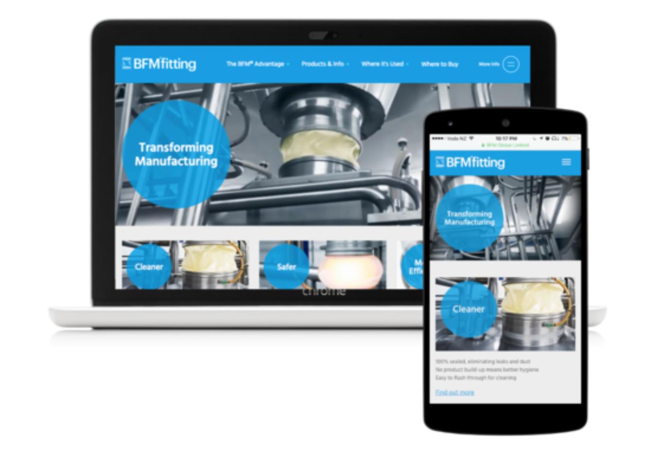 BFM Fittings Website Development by Unfold Digital