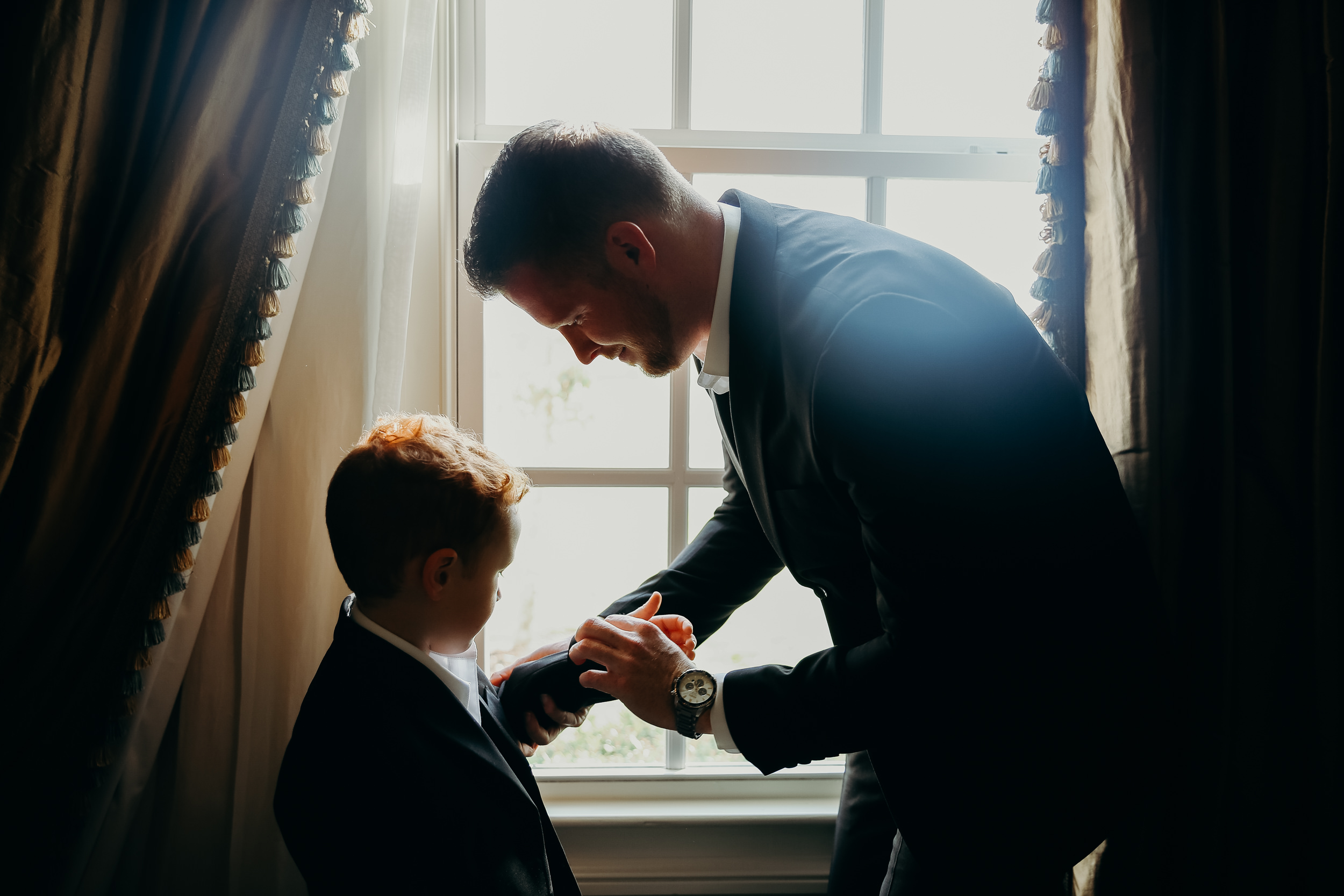 Father and Son Nottoway Plantation - Wedding Photography