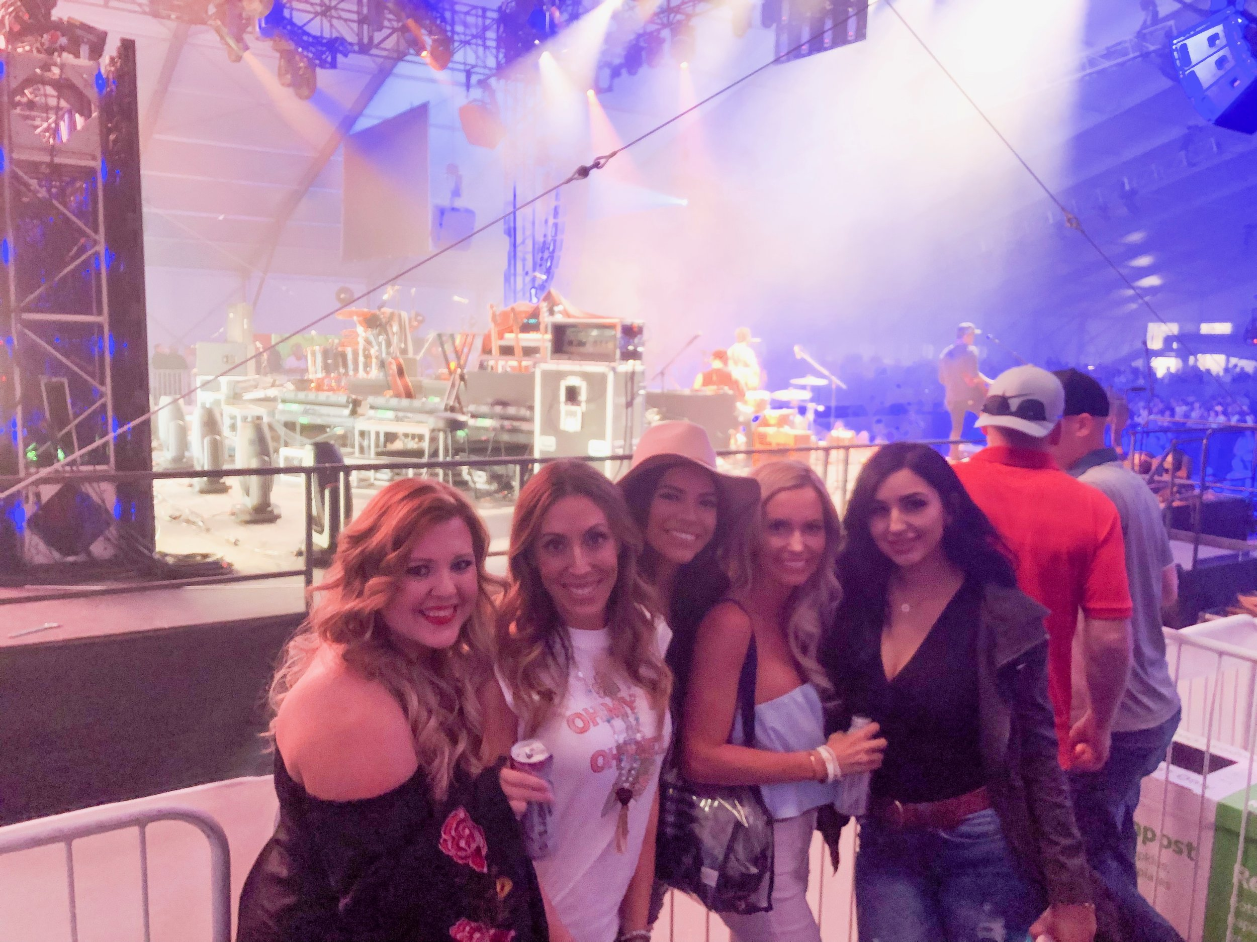 Backstage at Midland and Old Dominion