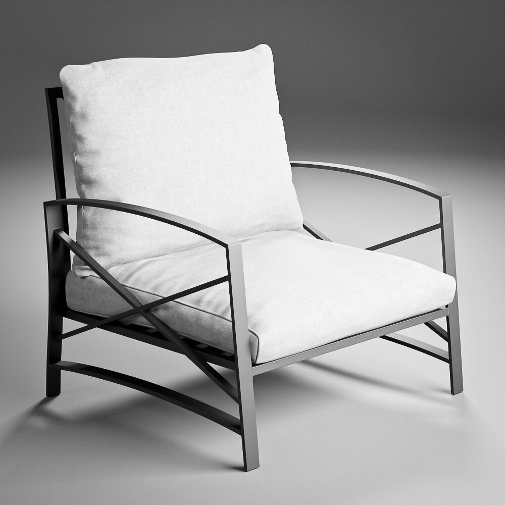 Modern Rustic Outdoor Patio Chair - Modern rustic outdoor patio lounge armchair perfect for outdoor deck, backyard, patio, or outdoor living space.