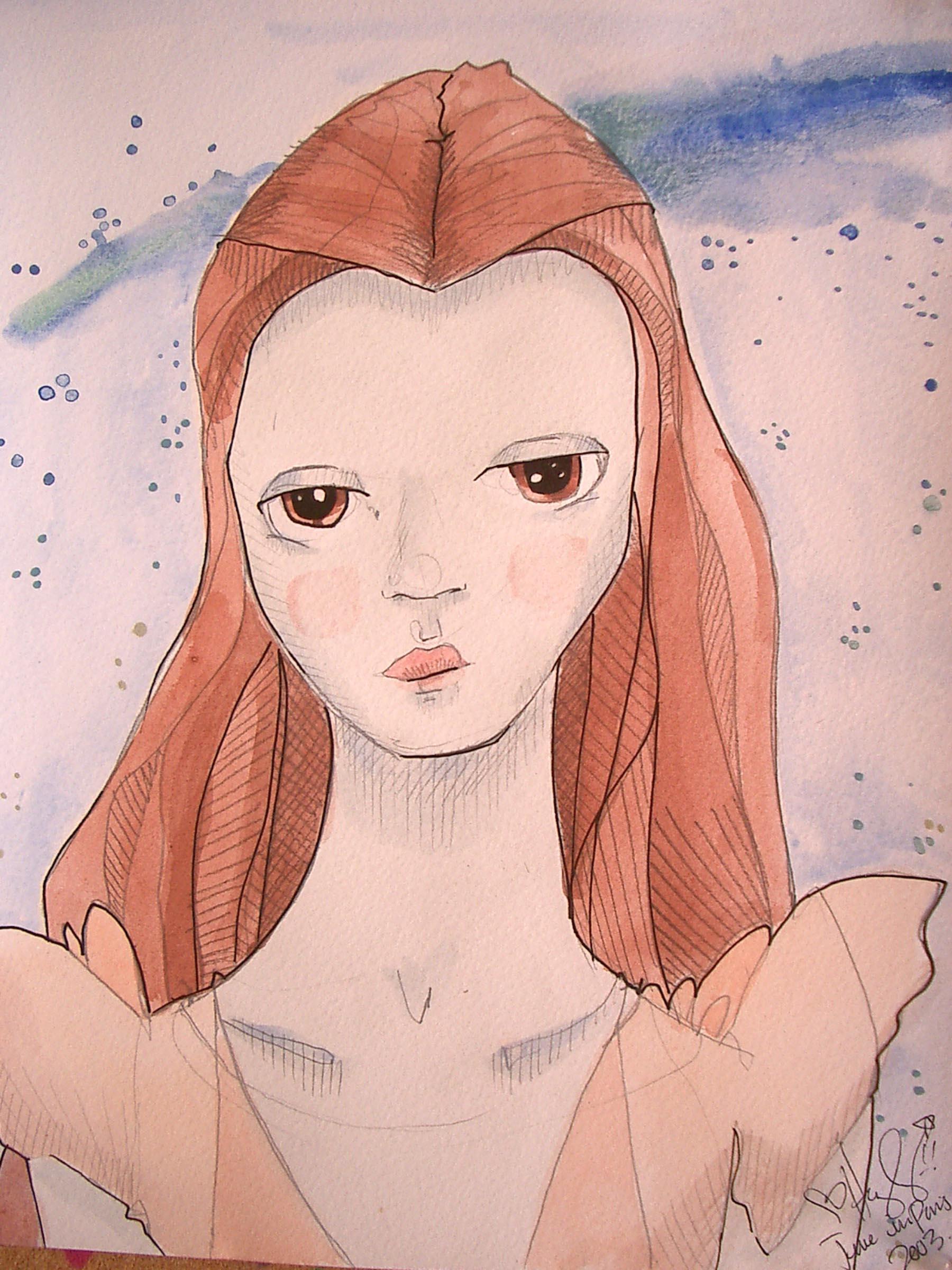 Sad Orange Princess