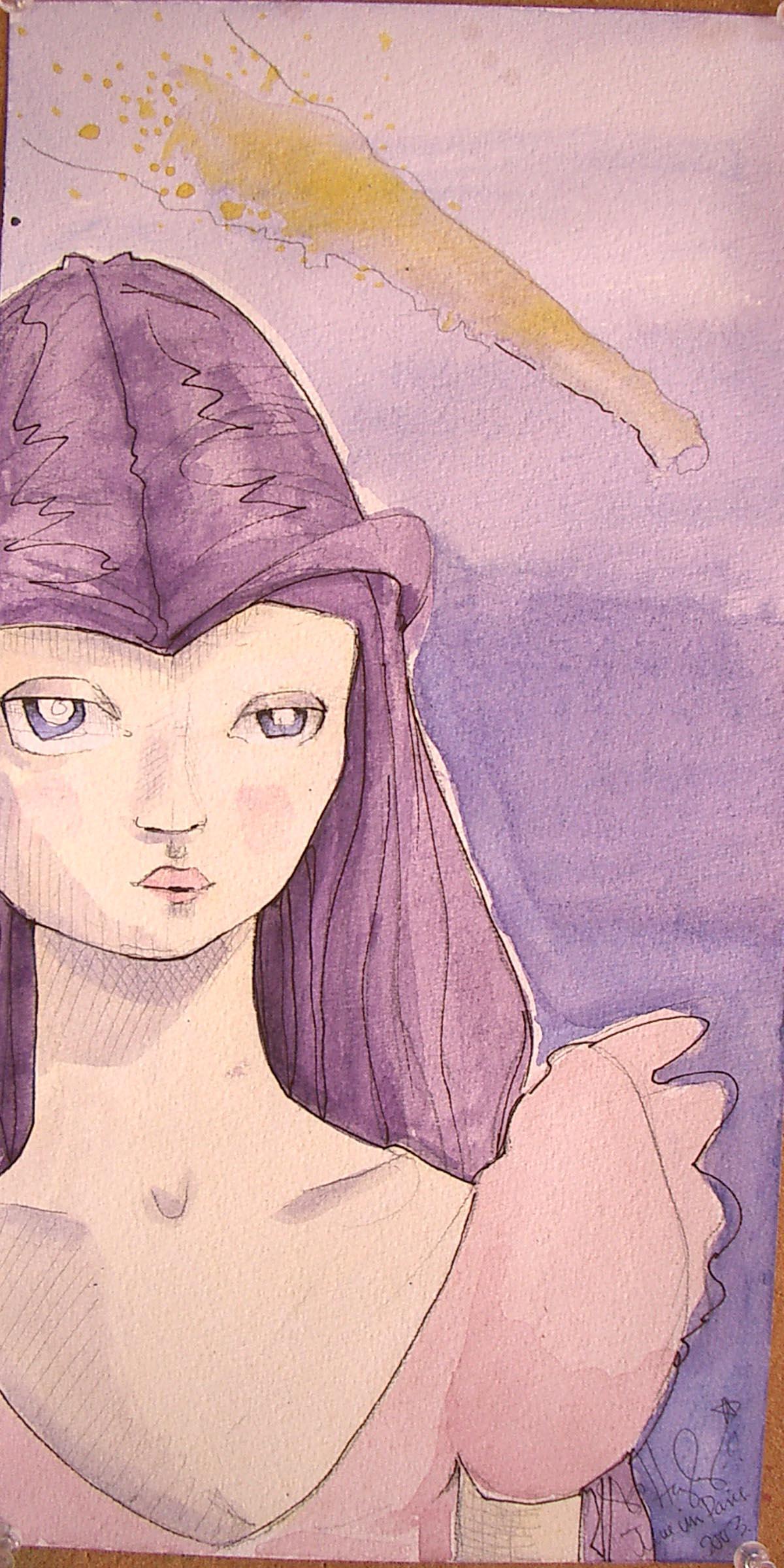 Sad Purple Princess