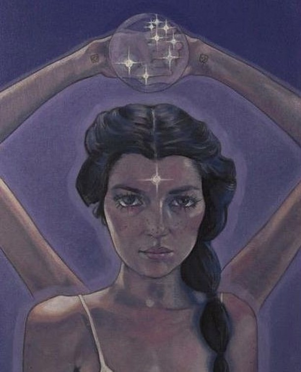 INDIGO CHILD... I created this self portrait in 2004. I'm holding the Pleiades in my hands, for this was once my home :) Indigo children are warriors, here to help breakdown structures that lack integrity, making way for the peace and beauty that is our Earthly birthright.  *** See more art at HayleyStarr.com Link in bio *** #Lightwork #Consciousness #Lightworker #1111 #EnergyHealing  #Universe #SpiritualAwakening #TheUniverse #Starseed #Mindfulness #Starseeds #Lightworkers #ThirdEye #ChakraHealing #Witchy #CrystalHealing #MindsetIsEverything #Mindfullness #Divine #Universe #Imagination #indigochild  #Destiny  #SpiritRealm #Spirit #GreatSpirit #SacredHeart #FatherSky #DivineMother #DivineMother
