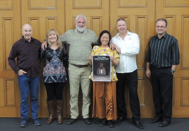The Real Ghostbusters of Australia Conference - Melbourne, Victoria. 24th - 26th May 2019.  Brett Farrell, Karen Scott, Robb Tilley, Joyce Bok, Johan Smit and Dr Vladimir Dubaj