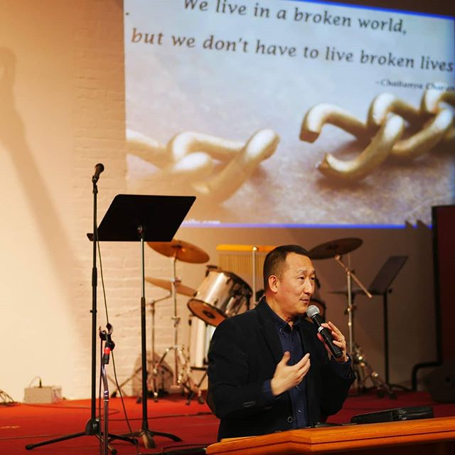 "First night of #fbcwintercon conference: ""From Brokenness to Wholeness"" by Pastor Lenny Cheng. ""We live in a broken world, but we don't have to live broken lives."" Join us tomorrow from 9-5 for more nuggets of wisdom!"