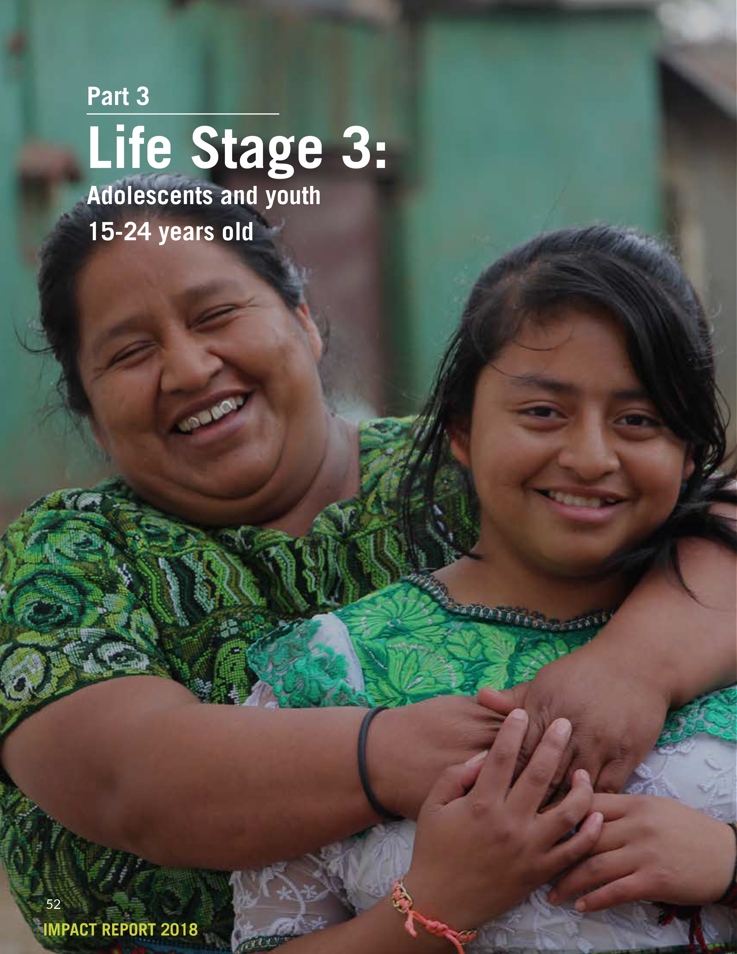 Life Stage 3:  Adolescents and youth 15-24 years old   (Print Version)