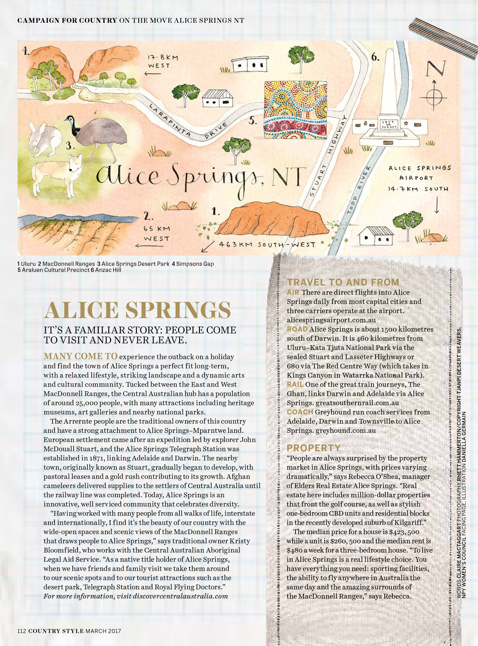 Country Style - March 2017   On the Move,    Alice Springs, NT