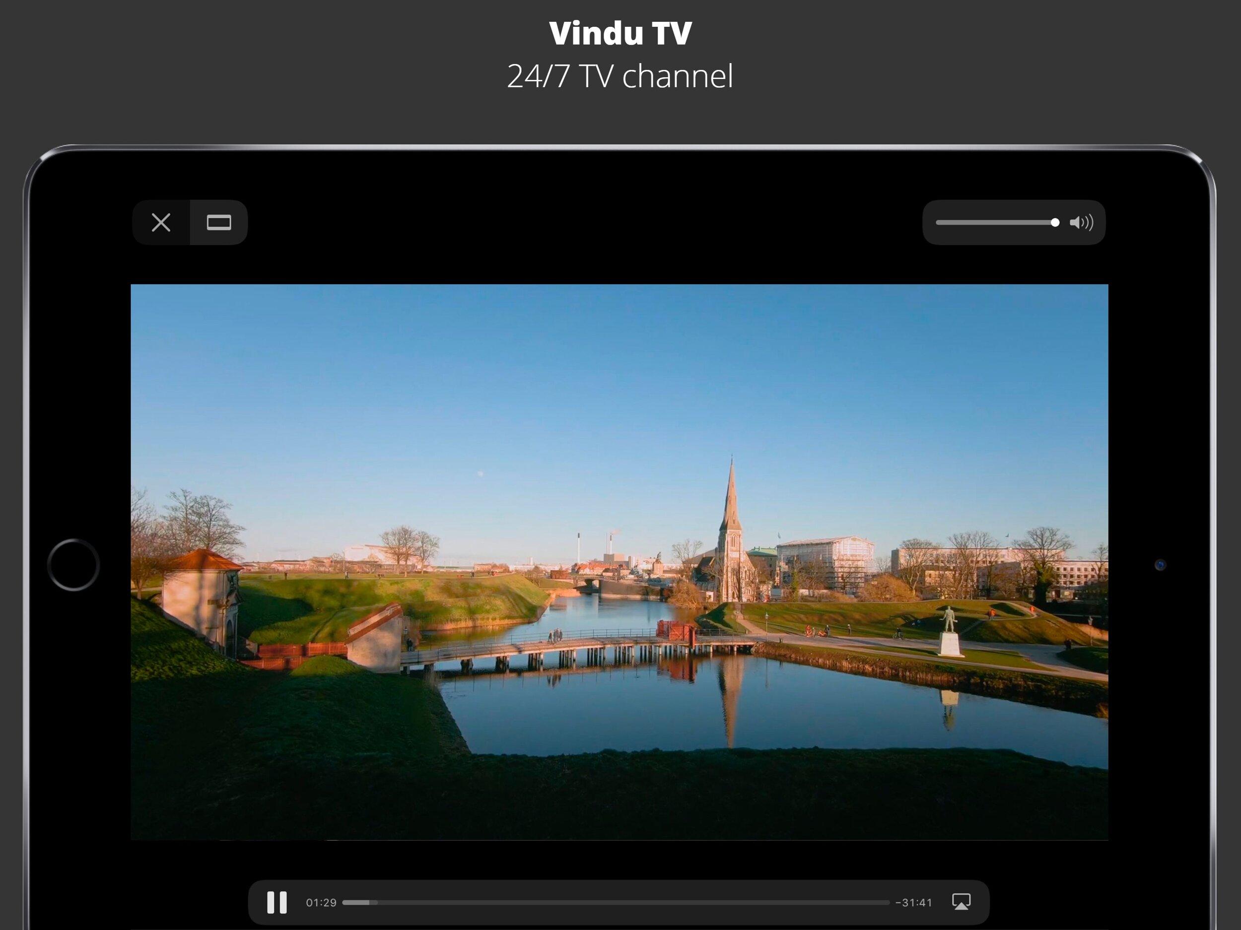 Slow TV hele dagen med et klik - VinduTV er en TV-kanal som afspiller beroligende videoer hele dagen