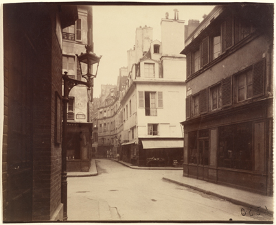 Fig.2] Eugène Atget Rue Cardinale, 1922, Albumen silver print 17.9 × 21.9 cm (7 1/16 × 8 5/8 in.) The J. Paul Getty Museum, Los Angeles