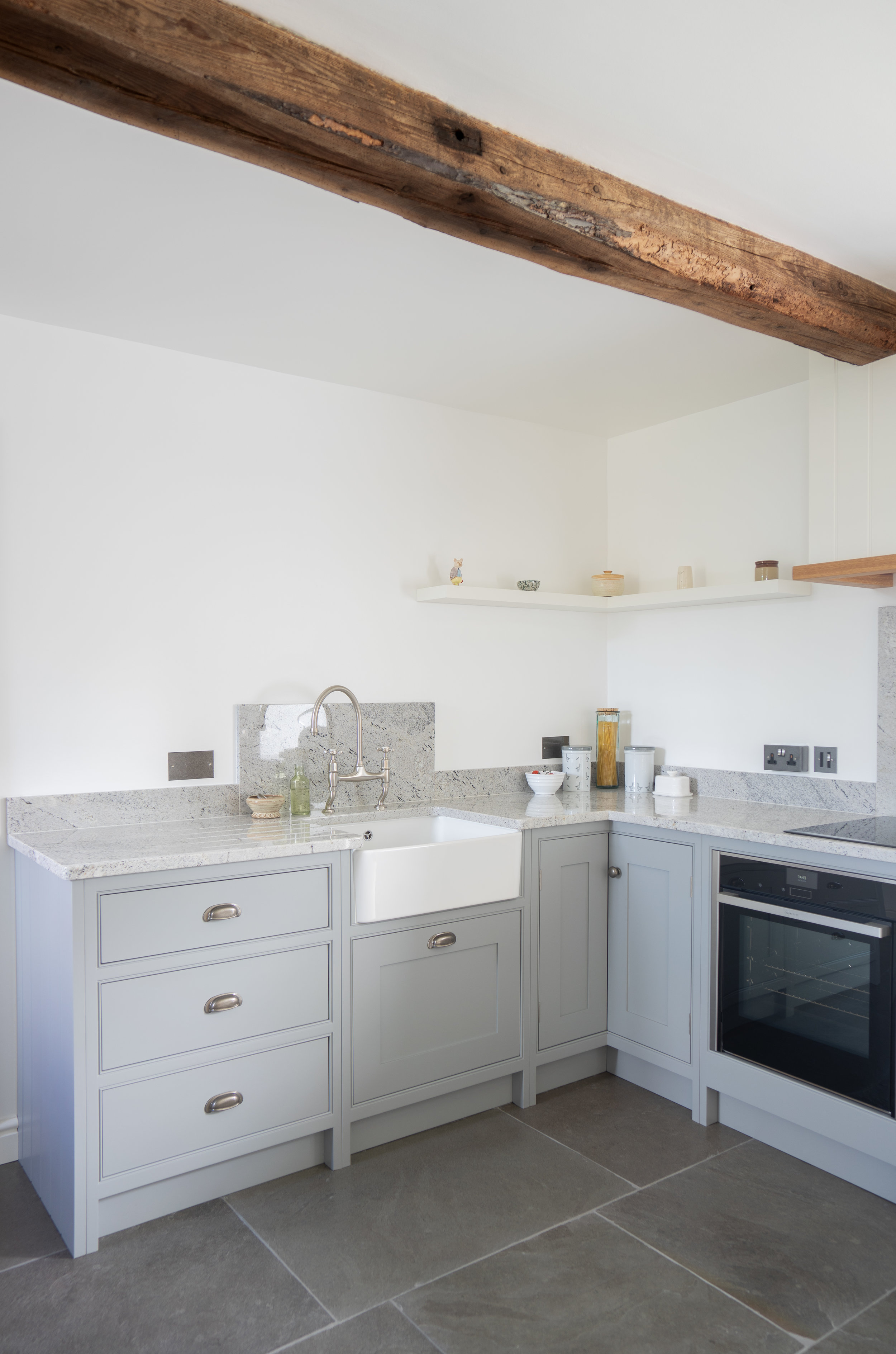 White Sink Grey Cabinets Built in cooker.jpg
