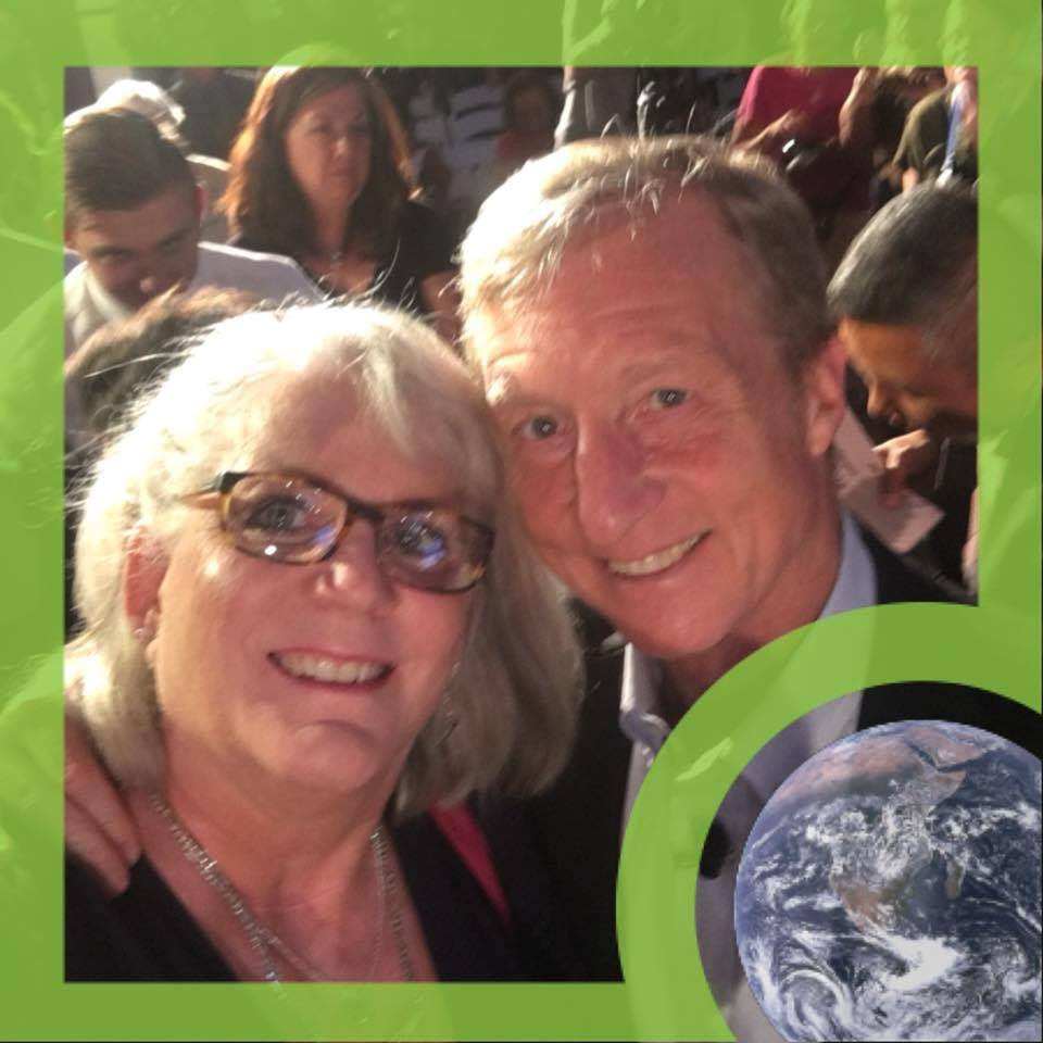 Nanette Wheeler with Tom Steyer