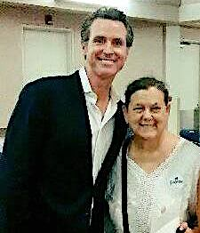 Gina Mc Bride with CA Governor, Honorable Gavin Newsom