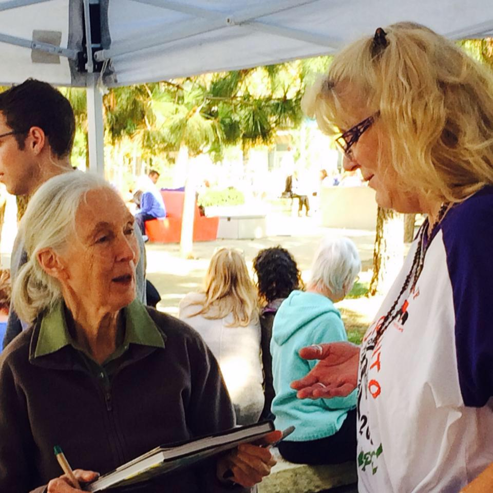 Nanette Wheeler with Ms. Jane Goodall