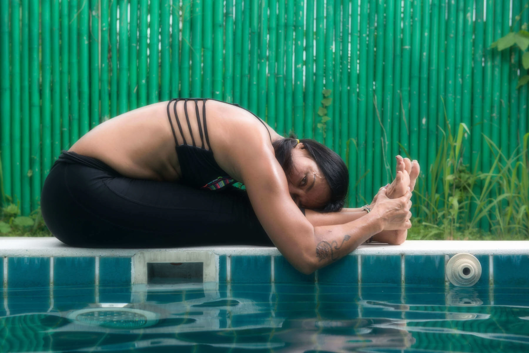 Panchita is the sole owner and head instructor of 5 Elements Hot Yoga Resort in Phuket, Thailand.