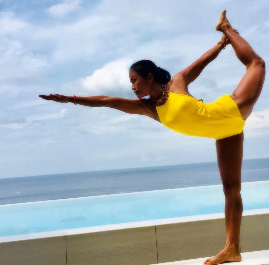 Bikram & Vinyasa Flow Instructor Nong at 5 Elements Hot Yoga Resort in Phuket, Thailand.