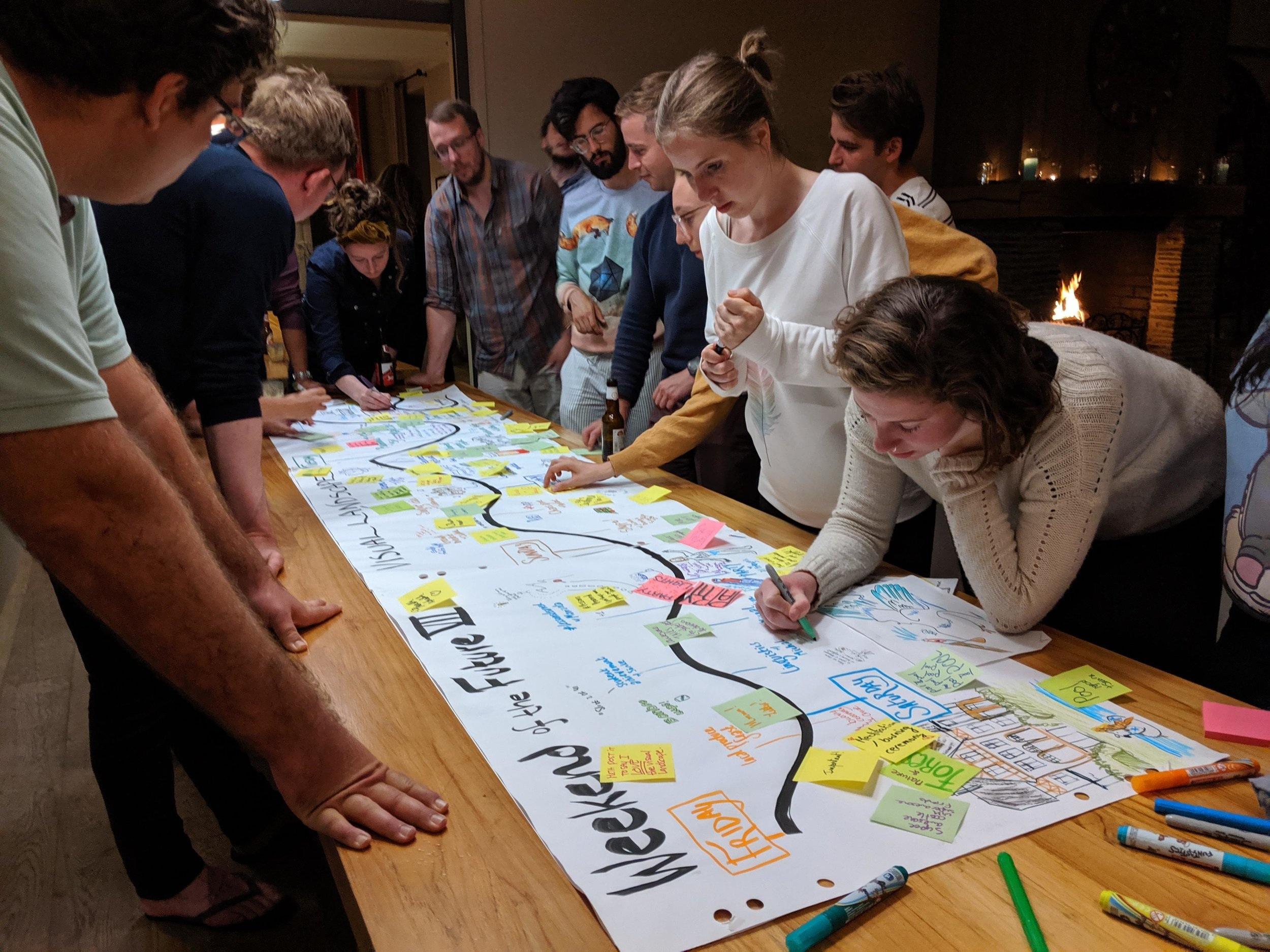 2019 - Visual facilitation workshop at the Weekend of the Future, Targnon BE