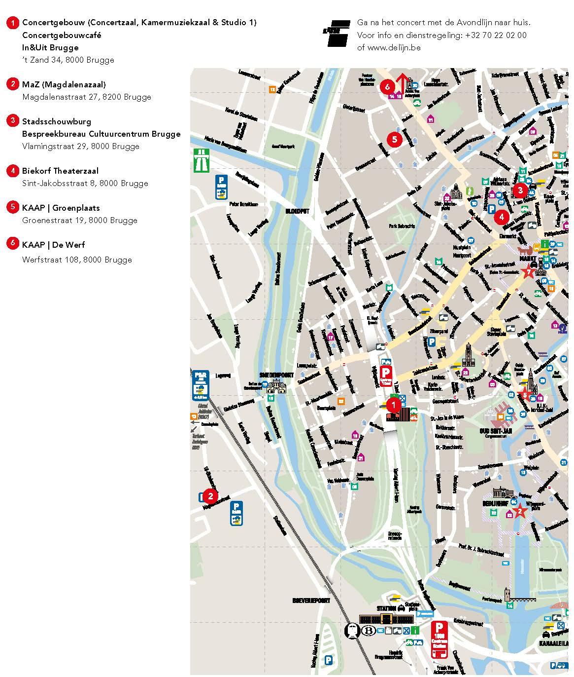- Download de kaart met alle locaties of bekijk de locaties hieronder afzonderlijk en stippel uw route uit via Google Maps.