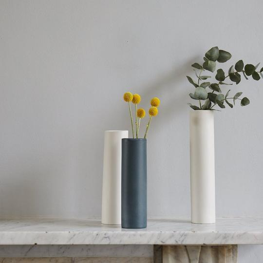 GeorgieScully Ceramics - https://georgiescullyceramics.co.uk/ | @georgiescullyceramicsGeorgie Scully Ceramics hand makes a tonal spectrum of tableware and home accessories using the slip casting method, from her south east London studio. Pick the perfect tone for your home and curate your own unique collection of tonal pieces, to be used and enjoyed daily. Each contemporary piece is finely polished, which accentuates the clay body's naturally smooth surface. Once cast, each piece is bisque fired, sanded with an extremely fine grade paper, glazed on the inside only, and receives a final polish after its glaze firing. Although these are cast using a known industrial method, Georgie intends to keep the handmade nature of each product, giving each piece a sense of soul with it's own story.