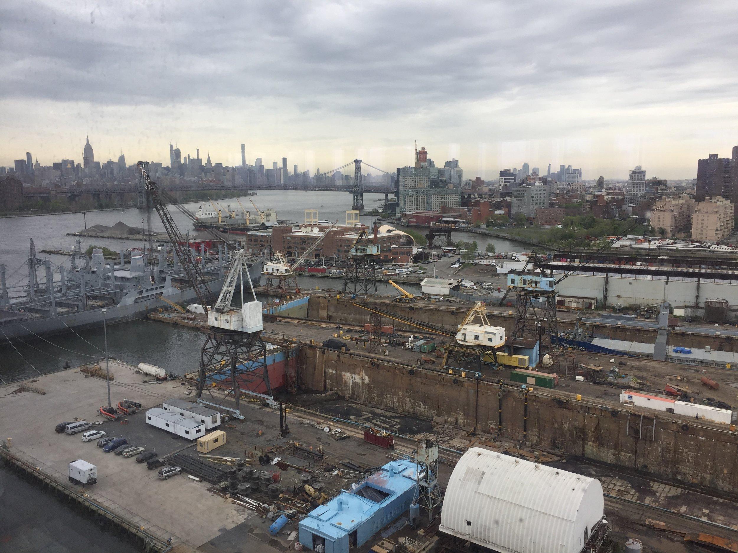 The Brooklyn Navy Yard still has one operational shipyard.