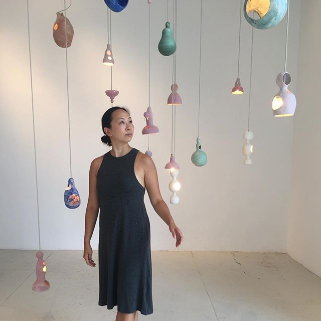 Enjoying exploring NYC's creative spaces, despite the summer heat! This is ceramicist @yuko_nishikawa's solo show at @sculpturespacenyc in Long Island City, Queens. 💕  Sculpture Space is in an industrial part of LIC, and the airy building houses multiple kilns and workspaces, offering classes and studio space for working with clay. I'm fascinated by how our creative spaces can exist, survive and thrive in pricey places like NYC!  #thecreativeedit #nycceramics #sculpturespacenyc #nyccreatives #creativehappylife #curatorslife