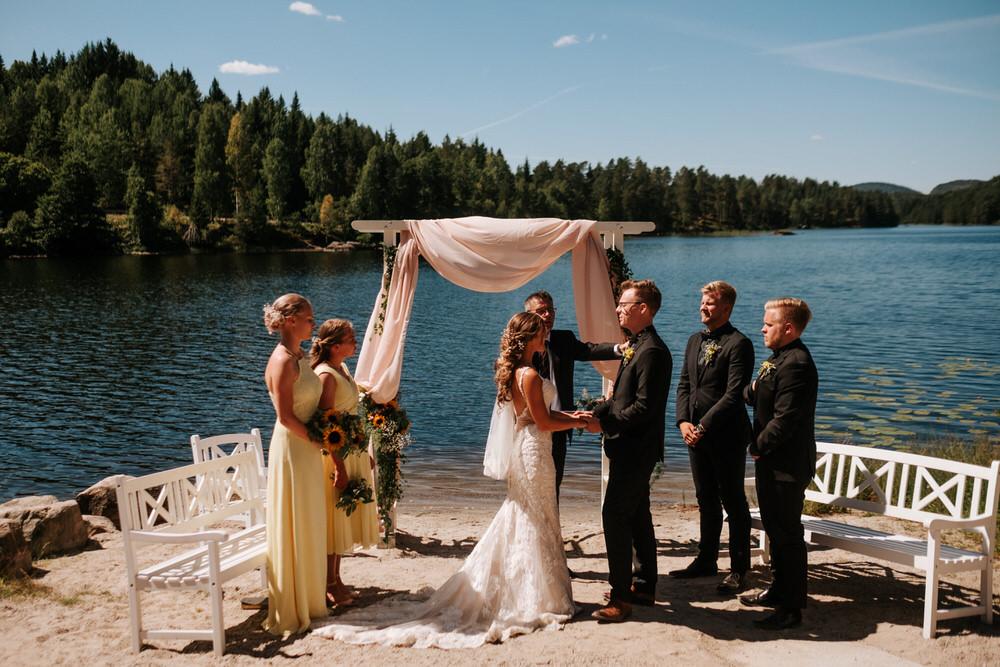 utevielse bryllupsfotografering