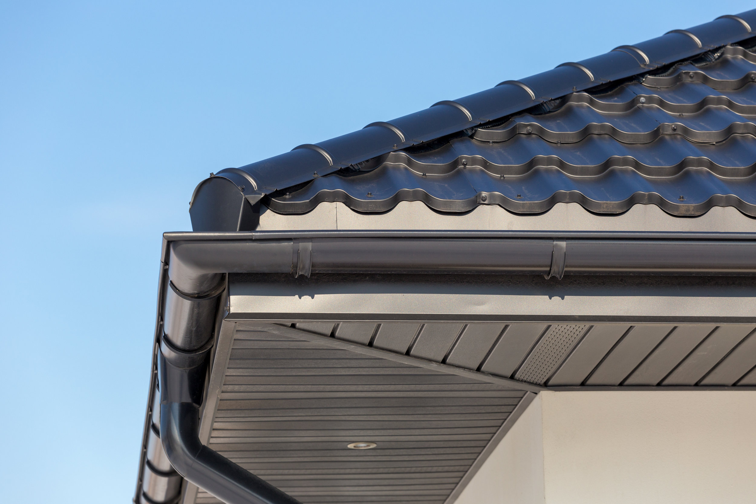 Soffits and uPVC gutter downpipes