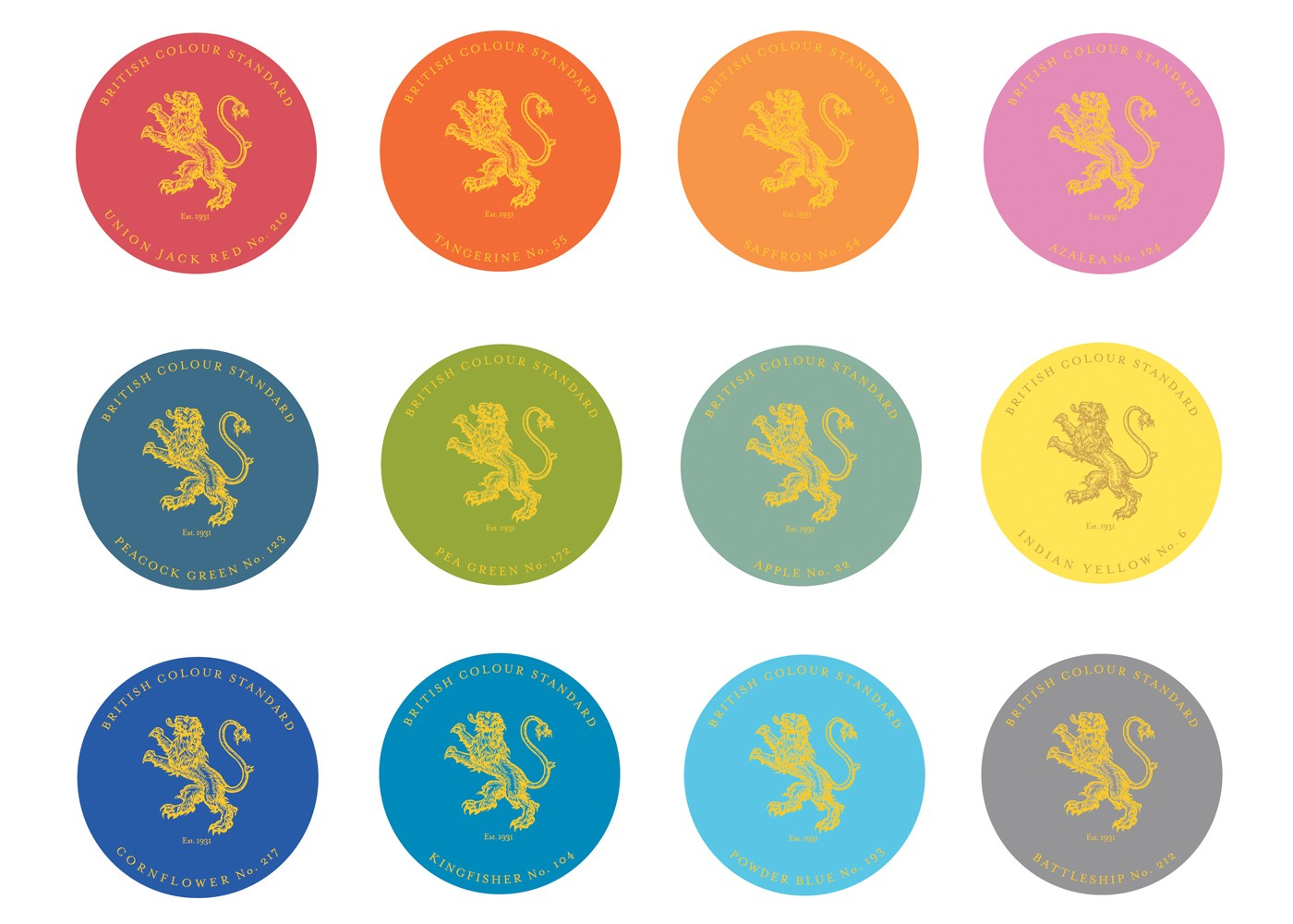 British Standard Colours