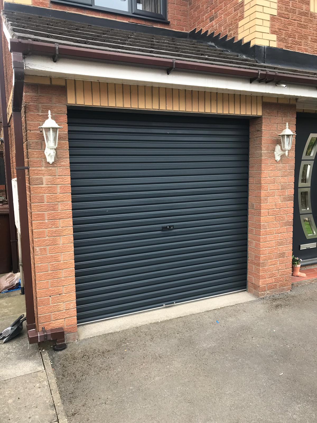 Spray painting garage doors in Leeds.jpeg
