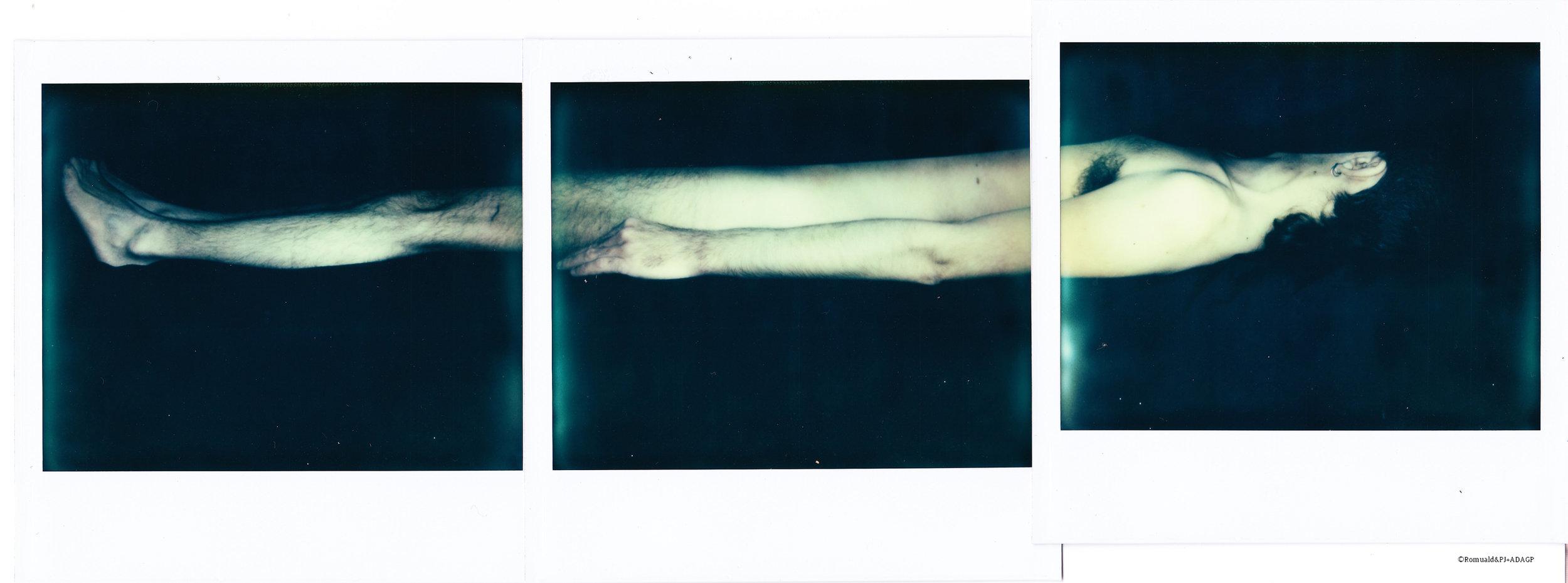 La mort de l'amant - 3 polaroids Image System encadrés - 30X20 - 2014 - Pièce unique - Collection privée