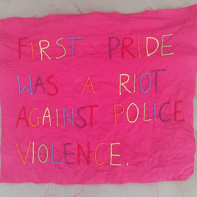 Tomorrow we see @prideinlondon hit the streets of the U.K. capital. Remember these important words . . . . Original post by embroidery artist @bufkaihafty