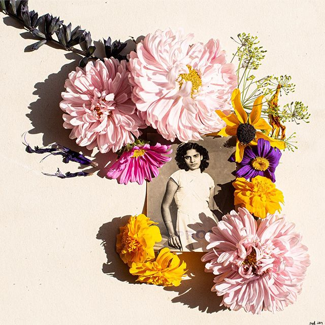"""Submitted by Edlyn @edlyngd  Note from the artist: My grandma used to always say """"I'll be all alone,"""" right before she knew it was time for us to go back to school after our holidays. She came to live with us when I was 10 years old. Grandma was quick-witted, fashionable with a love for bold colours on her clothes and jewelry. She never left the house without lipstick and she loved to cook, sew and let me paint her nails. She dealt with mental illness for as long as I can remember. As a kid, I didn't really understand why she was different. There is no education around depression in India and those suffering from it are stigmatised and prescribed pills without much explanation. It was only after she took her life that I started to understand how painful it must have been to be a prisoner of her mind. I wish I could have been more of a support to her. I think of her everyday and in every colour I see. • • • SUBMIT YOUR ART AND WRITING TO THIS FEED USING THE LINK IN BIO.☝ Express yourself and what you are struggling with. Know that by sharing yourself, you will be making someone else feel less alone, too.  #shareyourstory #callforsubmissions #poetrysubmission #getpublished #creativewriting #poetry #poetryofinstagram #submityourart #submitart #poetrycommunity #ownvoices #artistsofinstagram #arttherapy #getcreative  #youmakemefeellessalone #youarenotalone  #mentalhealthawareness #mentalhealthrecovery #mentalheathadvocate #mentalillness #addictionrecovery #ocd #bpdawareness #eatingdisorderrecovery #support #selfinjury #selfharm #anxiety #panicattack #depression"""