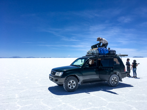 PACKING ON THE SALT FLATS