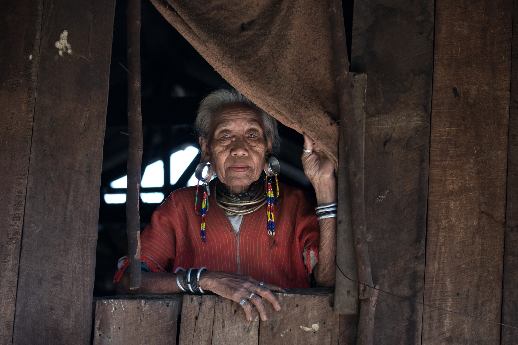 Old woman from the Kayaw Tribe
