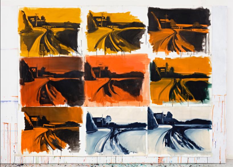 Unfinished 1 , 2016, 238 cm x 303 cm, acrylic on canvas