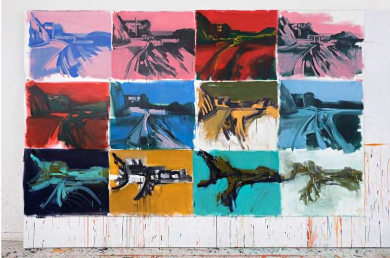 Unfinished 2 , 2016, 217 cm x 355 cm, acrylic on canvas